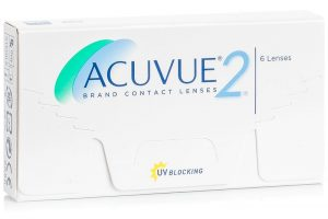 The package of Acuvue 2 lenses
